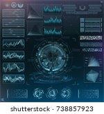 vector futuristic interface hud ... | Shutterstock .eps vector #738857923