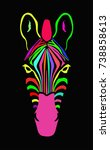 abstract colorful zebra. | Shutterstock .eps vector #738858613