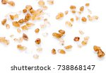 Small photo of cane sugar unrefined, dry demerara isolated