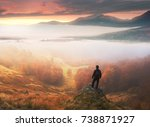 man stands on background of... | Shutterstock . vector #738871927