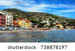 beautiful view of the sea and... | Shutterstock . vector #738878197