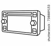 car dvd multimedia video player ... | Shutterstock .eps vector #738889153