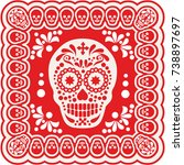 holy death  day of the dead ... | Shutterstock .eps vector #738897697