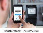 close up of a man's hand... | Shutterstock . vector #738897853