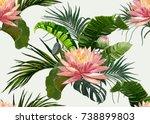 vector realistic seamless... | Shutterstock .eps vector #738899803