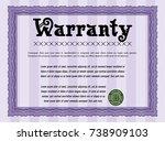 violet warranty template....   Shutterstock .eps vector #738909103