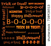 gift box to halloween. vector... | Shutterstock .eps vector #738928513