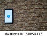 los angeles  usa  october 19 ... | Shutterstock . vector #738928567