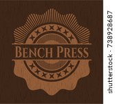 bench press realistic wood... | Shutterstock .eps vector #738928687