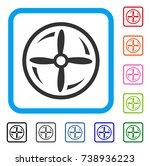 rotating screw icon. flat gray...