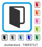 open door icon. flat grey...   Shutterstock .eps vector #738937117
