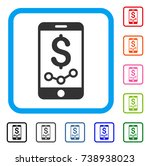 mobile sales report icon. flat...
