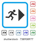 exit direction icon. flat grey... | Shutterstock .eps vector #738938977