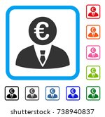 euro clerk icon. flat grey... | Shutterstock .eps vector #738940837
