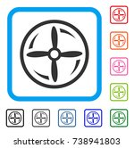 drone screw rotation icon. flat ...
