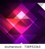 cosmic electric background with ... | Shutterstock .eps vector #738952363