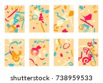 set of 8 cover templates.... | Shutterstock .eps vector #738959533