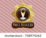 gold shiny badge with map... | Shutterstock .eps vector #738974263