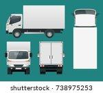 cargo truck transportation.... | Shutterstock .eps vector #738975253