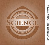 science wooden emblem | Shutterstock .eps vector #738979963