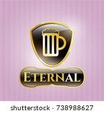 golden emblem or badge with... | Shutterstock .eps vector #738988627