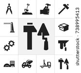 set of 12 editable construction ...