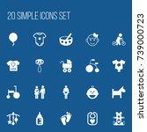 set of 20 editable child icons. ...
