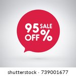 95  offer label sticker  sale... | Shutterstock .eps vector #739001677