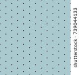 dot pattern on indigo...   Shutterstock .eps vector #739044133