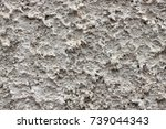 grey plaster background ...   Shutterstock . vector #739044343