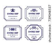 vintage logos   Shutterstock .eps vector #739048537