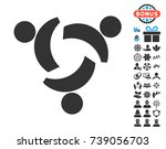 community icon with free bonus... | Shutterstock .eps vector #739056703