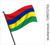 flag of mauritius. mauritius... | Shutterstock .eps vector #739072753