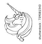 unicorn isolated. magical... | Shutterstock .eps vector #739081543
