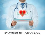 healthcare and heart problems... | Shutterstock . vector #739091737
