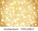 golden christmas background of... | Shutterstock .eps vector #739110817