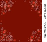 round frame or border christmas ... | Shutterstock .eps vector #739116133