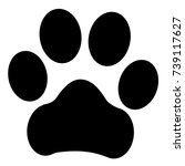 trail paws illustration. dog ... | Shutterstock . vector #739117627