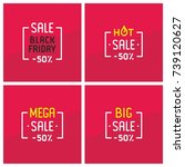 sale  black friday  hot sale ... | Shutterstock .eps vector #739120627