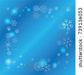 square frame or border... | Shutterstock .eps vector #739136053