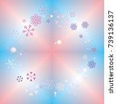 round frame or border christmas ... | Shutterstock .eps vector #739136137