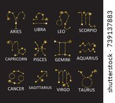 collection of zodiac signs ... | Shutterstock .eps vector #739137883