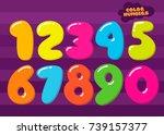 vector cartoon children figures.... | Shutterstock .eps vector #739157377