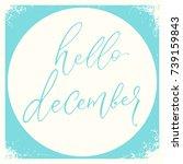 hello december calligraphy... | Shutterstock .eps vector #739159843