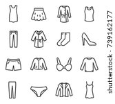 women's clothing icons set ... | Shutterstock .eps vector #739162177
