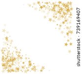 gold flying stars confetti...   Shutterstock .eps vector #739169407
