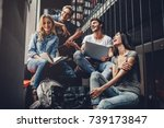 students are studying in... | Shutterstock . vector #739173847