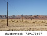 telephone poles run through a...   Shutterstock . vector #739179697