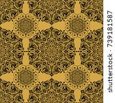 seamless pattern. traditional... | Shutterstock .eps vector #739181587
