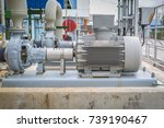 centrifugal pump with induction ... | Shutterstock . vector #739190467